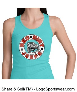 Youth Girls Ribbed Tank Design Zoom